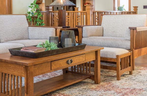 Amish Highback Slat Family Room Collection