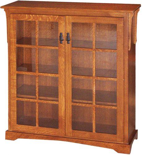 Amish Mission Medium 2 Door Bookcase