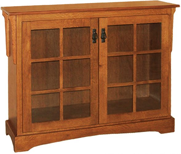 Amish Mission Bookcase with Two Doors