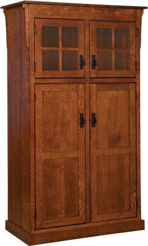 Amish Heritage Mission 4 Door Pantry