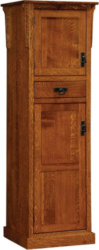 Amish Mission 2 Door Pantry with Center Drawer