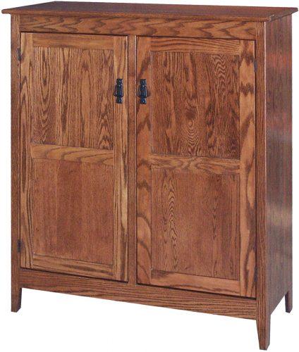 Amish Mission 2 Door Pie Safe with Reversed Raised Panel Doors