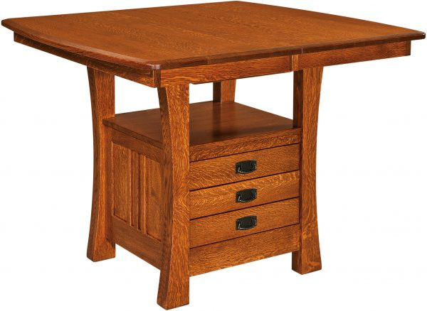 Amish Arts and Crafts Cabinet Base Table