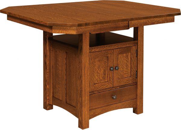 Amish Bassett Cabinet Base Table