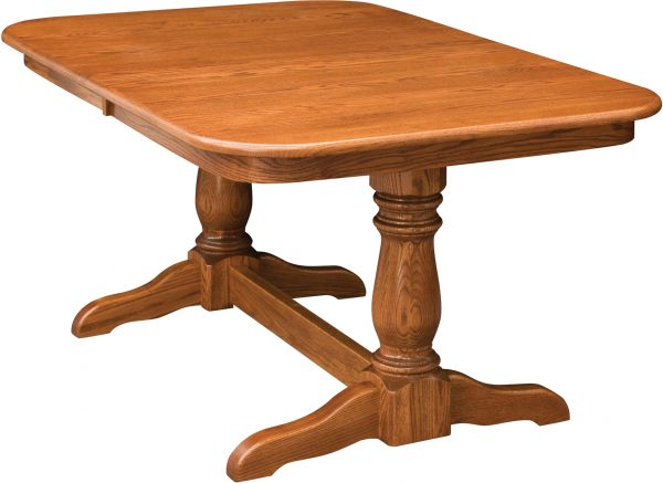 Amish Dutch Double Pedestal Dining Table