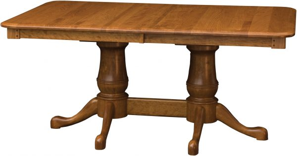 Amish Estate Double Pedestal Dining Table