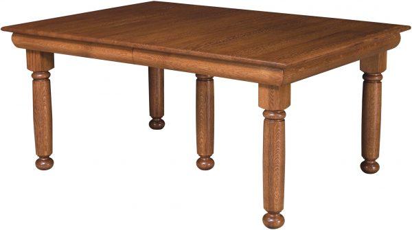 Amish Hampton Leg Dining Room Table