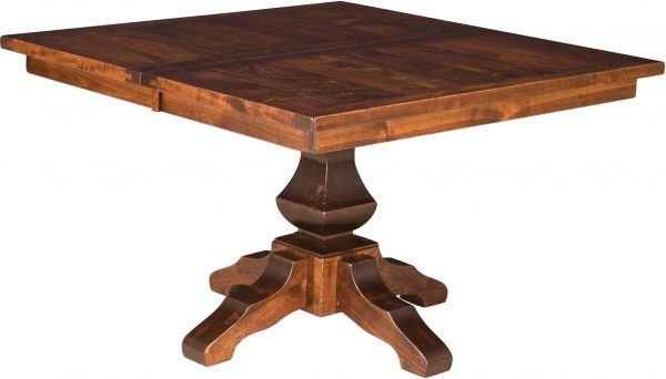 Amish Lincoln Square Pedestal Dining Table