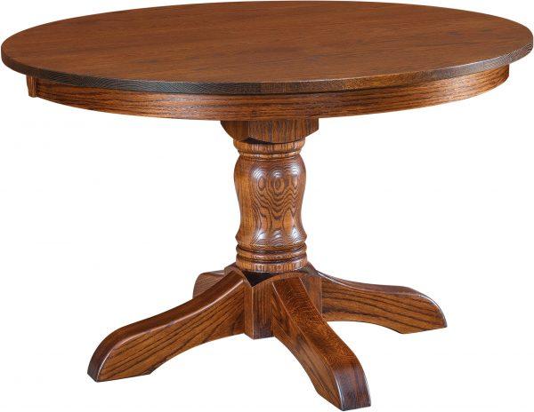 Amish McKenzie Single Pedestal Table