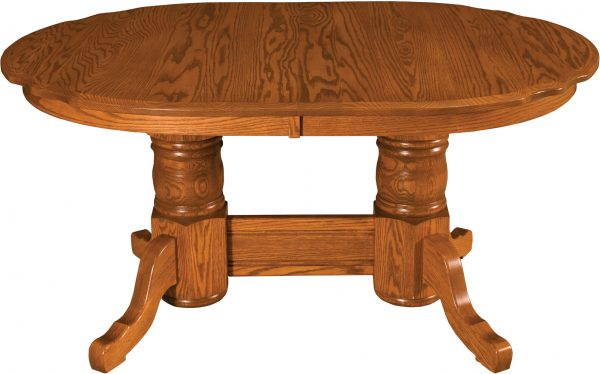 Amish Traditional Scalloped Dining Table