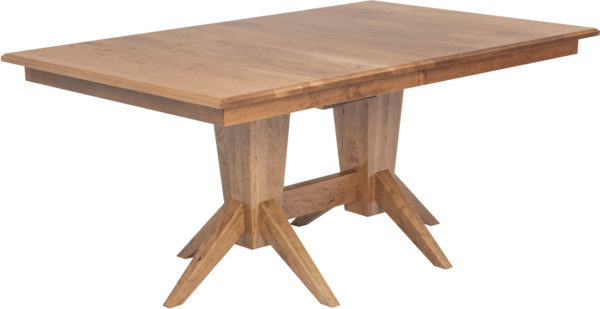 Amish Milan Double Pedestal Dining Table