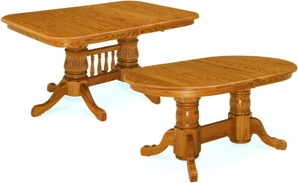 Amish Double Pedestal Oval Tables