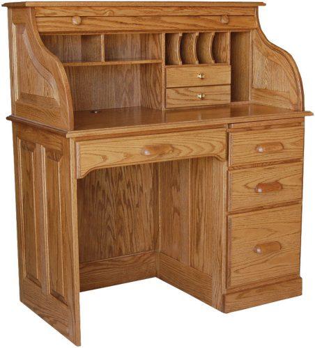 Amish Single Pedestal Roll Top Desk