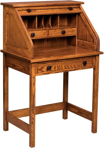 Amish Mission Roll Top Writing Desk