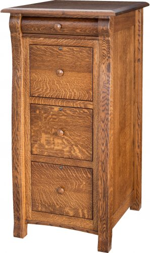 Amish Castlebury File Cabinet with Four Drawers