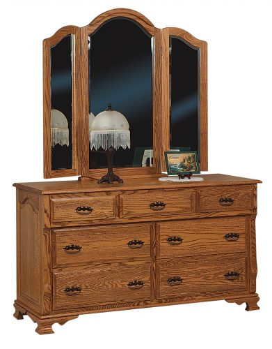 Amish Classic Heritage 7 Drawer Dresser