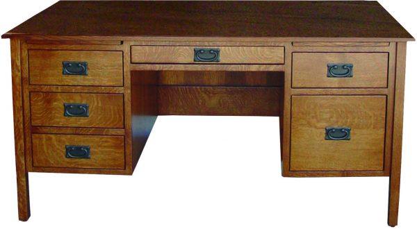 Amish Post Mission Flat Top Desk