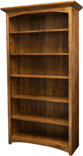 Amish Mission Arched Skirt Bookcase