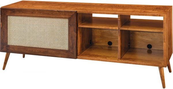 Amish Cascade Sliding Door TV Cabinet
