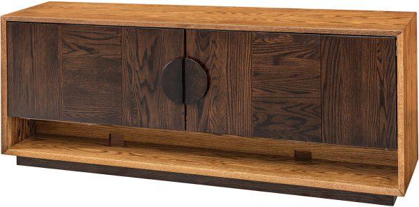 Amish Coplanair Sliding Door TV Cabinet