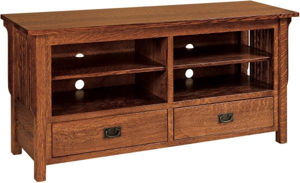 Amish Landmark Open Large TV Cabinet