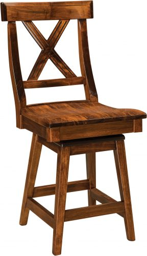 Amish Vornado Hardwood Swivel Bar Stool