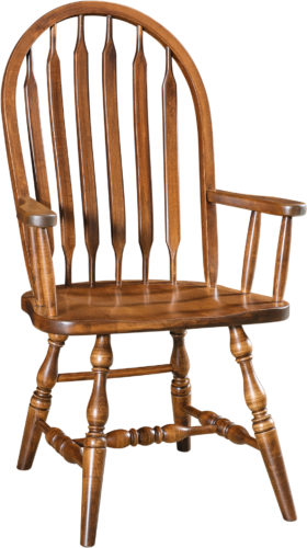 Amish Bent Paddle Arm Dining Chair