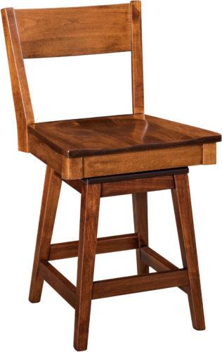 Amish Monterey Hardwood Swivel Bar Stool