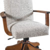 Amish Zeeland Desk Chair with Optional Arms