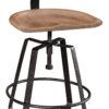 Amish Iron Craft Bar Stool with Back