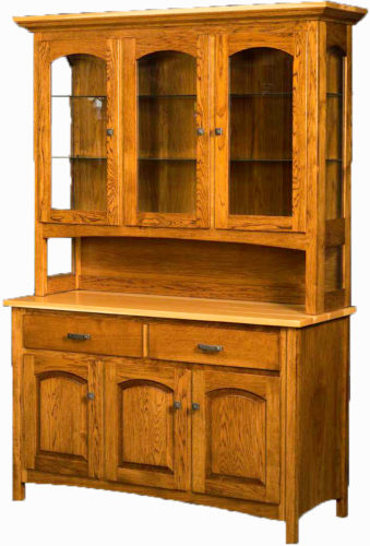 Amish 54 Inch Country Shaker Hutch