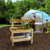 Cypress Potting Table with Greenhouse