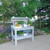 Blue Painted Potting Table