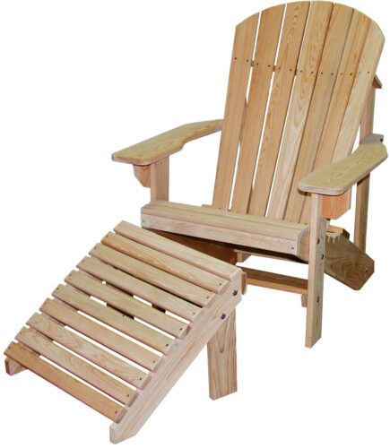 Adirondack Chair and Footrest in Cypress