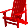 Adirondack Chair Painted Fire Engine Red