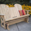 Treated Pine Double Adirondack Glider with Console Closed