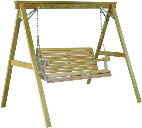 Treated Pine Grandpa Swing with A-Frame