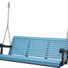 5 Ft. Aruba Blue Black Poly Grandpa Swing