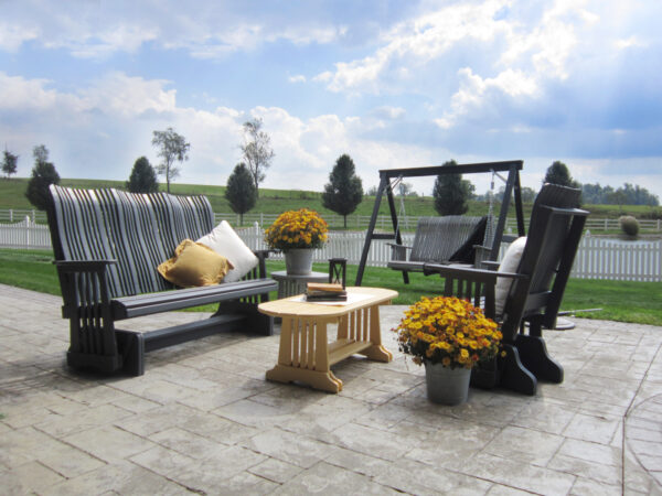 Highback Glider Patio Setting