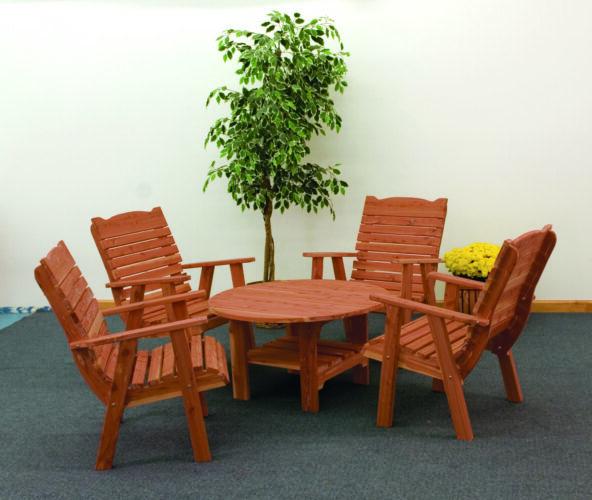 Cedar Chat Table Set