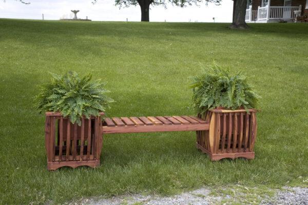 Cedar Bench with Planters