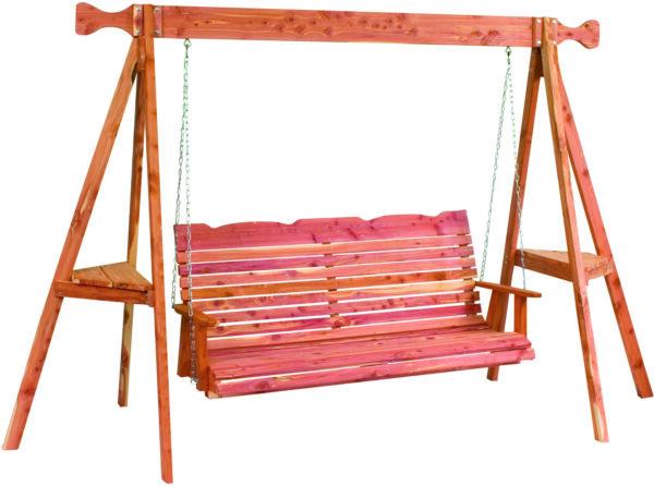Cedar Straightback Tripod Swing