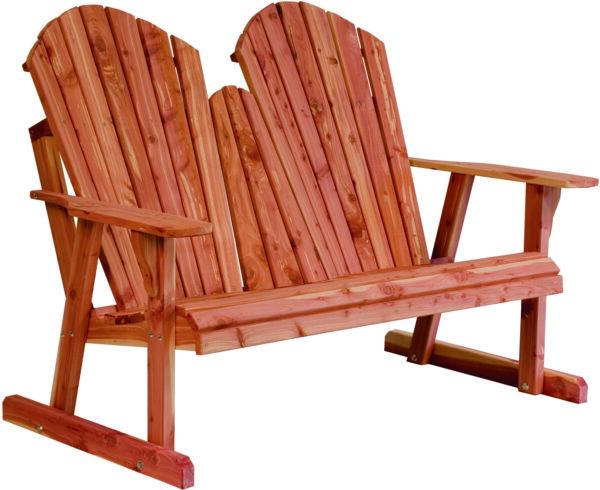 Cedar New Style Adirondack Loveseat Bench