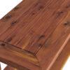 Cedar Patio Coffee Table Detail