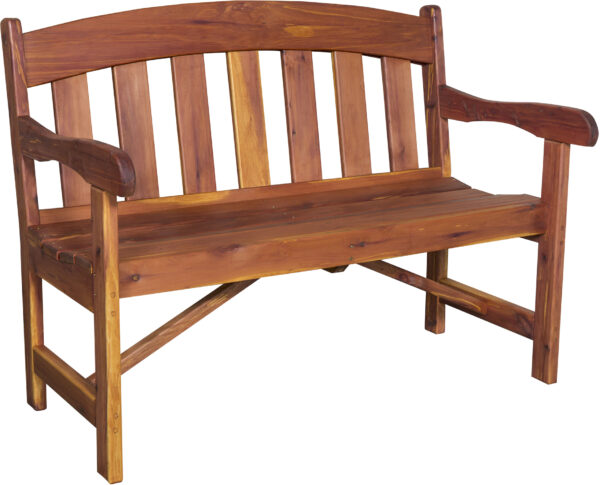 Cedar Arched Garden Bench