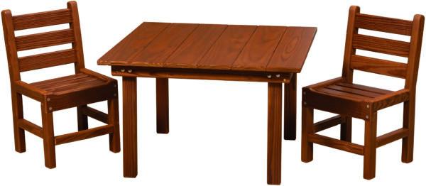 Cedar Kid's Table Set