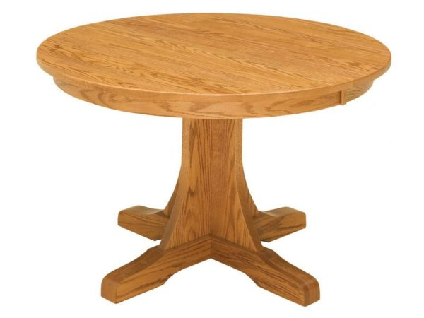 Amish Single Pedestal Mission Dining Table