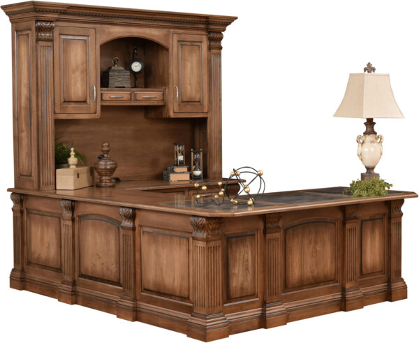Amish Montereau U Desk with Hutch