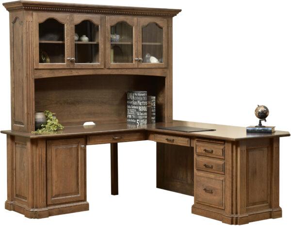 Amish Signature Corner Desk with Hutch