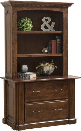Amish Signature Lateral File and Bookshelf